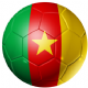 Cameroon Football Flag 25mm Keyring
